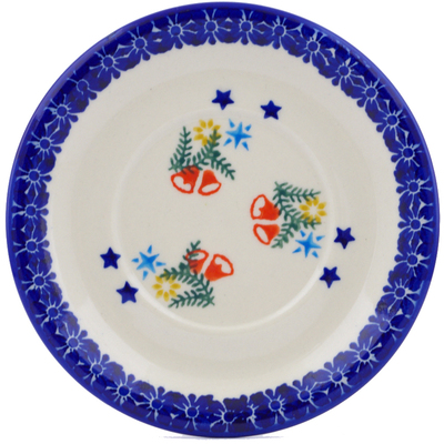 "Polish Pottery Saucer 6"" Wreath Of Bealls"