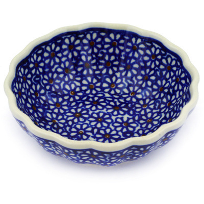 Polish Pottery Scalloped Bowl Small Daisy Dreams