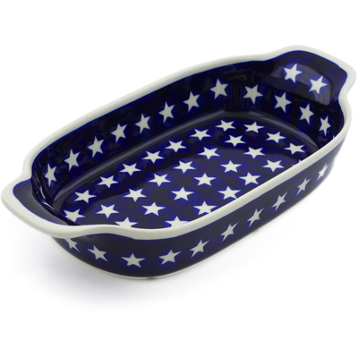 Polish Pottery Serving Dish or Baker Small America The Beautiful