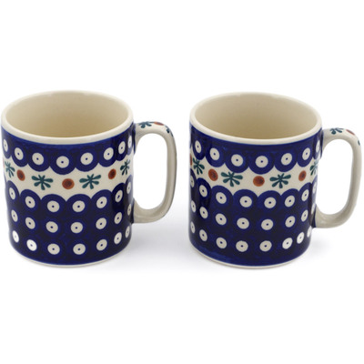 Polish Pottery Set of 2 Mugs Mosquito