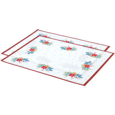 "Polyester Set of 2 Place Mats 16"" Flower Boutiques"