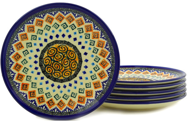 sc 1 st  Polmedia Polish Pottery & Set of 6 Plates 7\
