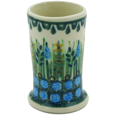 Polish Pottery shot glass 2 oz Prairie Land UNIKAT