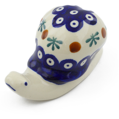 "Polish Pottery Snail Figurine 4"" Mosquito"