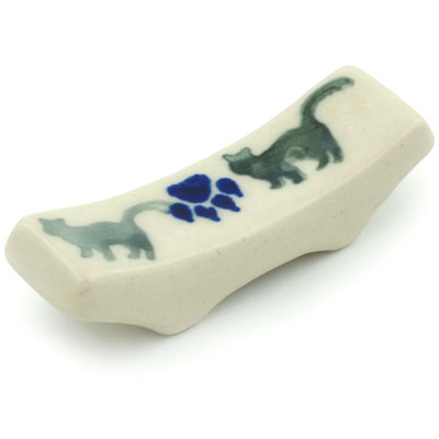 "Polish Pottery Spoon Rest 2"" Boo Boo Kitty Paws"