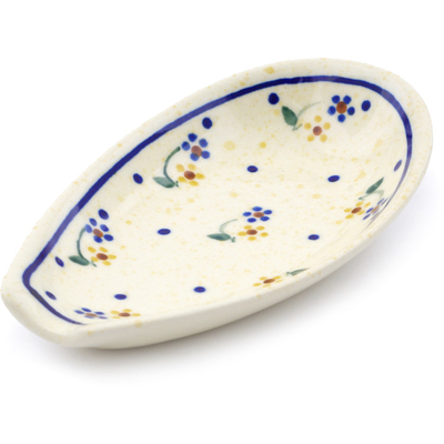 "Polish Pottery Spoon Rest 5"" Country Meadow"