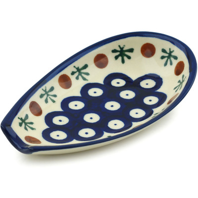 "Polish Pottery Spoon Rest 5"" Mosquito"