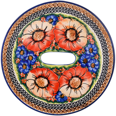 Polish Pottery Stool Insert 9¾-inch Bright Beauty UNIKAT