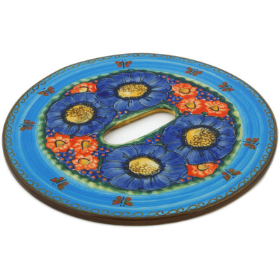 Polish Pottery Stool Insert 9¾-inch Field Of Butterflies UNIKAT