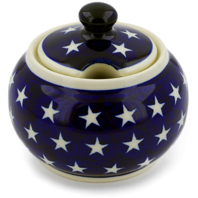 Polish Pottery Sugar Bowl 10 oz America The Beautiful