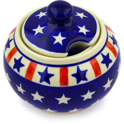 Polish Pottery Sugar Bowl 10 oz Americana