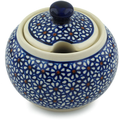 Polish Pottery Sugar Bowl 10 oz Daisy Dreams