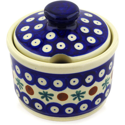 Polish Pottery Sugar Bowl 10 oz Mosquito