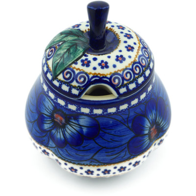 Polish Pottery Sugar Bowl 11 oz Blue Heaven UNIKAT