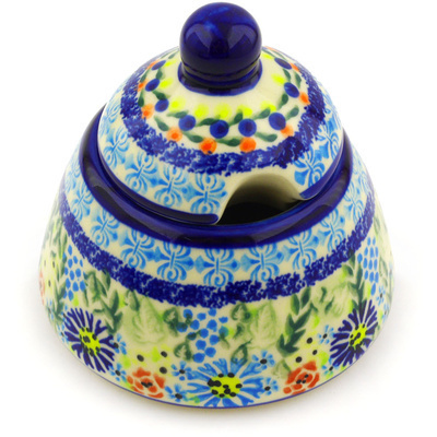Polish Pottery Sugar Bowl 12 oz Flor-de-lis