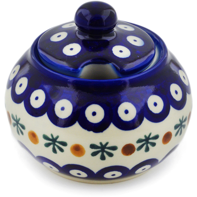 Polish Pottery Sugar Bowl 12 oz Mosquito