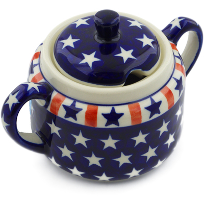 Polish Pottery Sugar Bowl 14 oz Americana