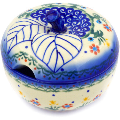 Polish Pottery Sugar Bowl 15 oz Spring Flowers