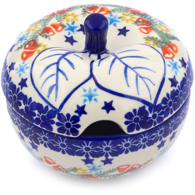 Polish Pottery Sugar Bowl 15 oz Wreath Of Bealls