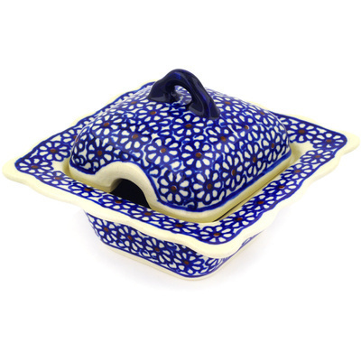 Polish Pottery Sugar Bowl 3 oz Daisy Dreams
