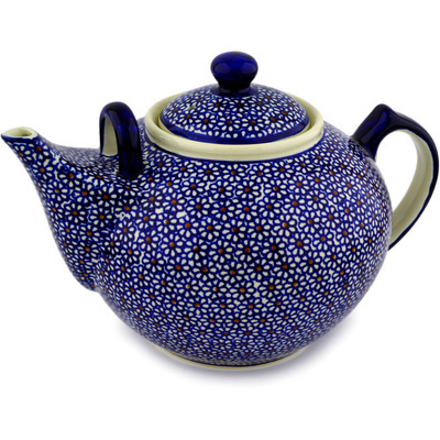 Polish Pottery Tea or Coffee Pot 101 oz Daisy Dreams