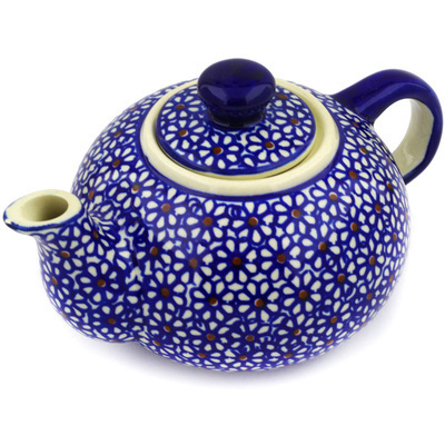 Polish Pottery Tea or Coffee Pot 19 oz Daisy Dreams