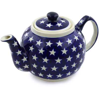 Polish Pottery Tea or Coffee Pot 4 Cup America The Beautiful