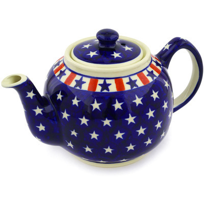 Polish Pottery Tea or Coffee Pot 4 Cup Americana