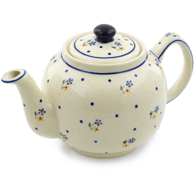 Polish Pottery Tea or Coffee Pot 4 Cup Country Meadow