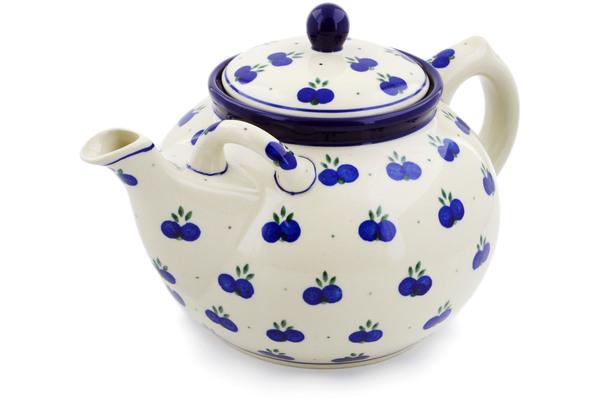 Tea or Coffee Pot 7 cups Wild Blueberry