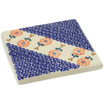 "Polish Pottery Tile 4"" Amarillo"