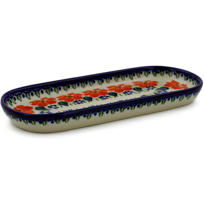 "Polish Pottery Tray 9"" Grecian Fields"