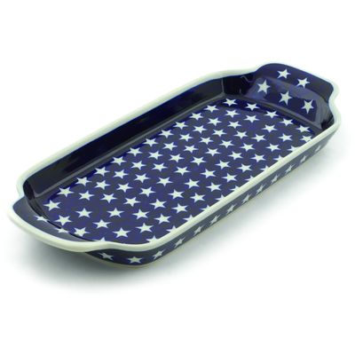 Polish Pottery Tray with Handles 12-inch America The Beautiful