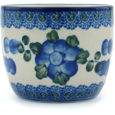 Polish Pottery Tumbler 6 oz Blue Poppies
