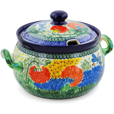 Polish Pottery Tureen 122 oz Garden Delight UNIKAT