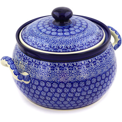 Polish Pottery Tureen 122 oz Winter Frost