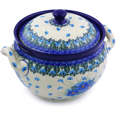 Polish Pottery Tureen 55 oz Forget Me Not