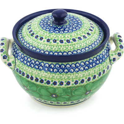 Polish Pottery Tureen 55 oz Key Lime Dreams UNIKAT