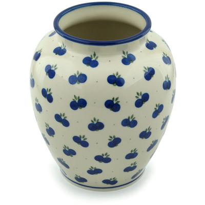 "Polish Pottery Vase 8"" Wild Blueberry"